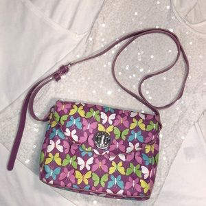 Cute Vera Bradley Purple Butterfly Crossbody Purse